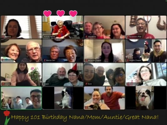 Nana Zoom 101st birthday party